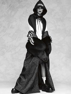Kendall Jenner wearing Marc Jacobs Fall'16 coat. Shot by Luigi and Iango, styled by Anna Dello Russo for Vogue Japan October 2016