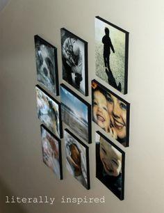 Foto's | Langs de trap omhoog. Op hout gemaakt met Mod Podge. Door WendydeGroot