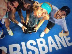 #tennis player #Sabine #Lisicki wins #Brisbane #trophy - 10 january 2015  By @sabinelisicki on #Twitter