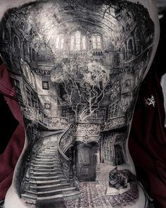 "Stefan pe Instagram: ""Nearly Done with this insane backpiece. Thx Bettina @blackrainbowtattootheatre#germantattooers #tattooartproject #taetowiermagazin…"""