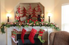 It's Written on the Wall: See 331 Home Holiday Mantel Christmas Decorations In One Place