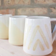 A cheerful modern mug perfect for tea, coffee, or any warm beverage. This stoneware piece was carefully hand-crafted on the pottery wheel and