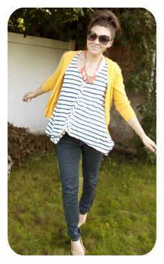 Style Inspiration. I like the stripey top, not the crooked-ness.  www.lylia.kitsylane.com