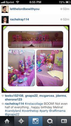 Melina's candy land theme birthday (first birthday )
