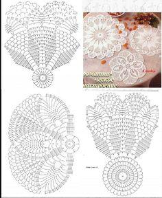 Crochet Circles, Crochet Doily Patterns, Crochet Diagram, Thread Crochet, Crochet Motif, Crochet Doilies, Knitting Patterns Free, Crochet Flowers, Crochet Stitches