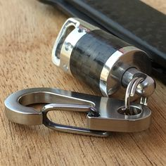Swivel Key chain Carbon por EdcApparatus en Etsy