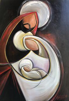 Acrylic Wine Glasses, Sad Paintings, Bible Drawing, Jesus Art, Colorful Wall Art, Catholic Art, Contemporary Wall Art, Horse Art, Christmas Traditions