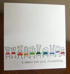 Punny cards - crafts, fairy gardens, fabric and paper cards Funny Cards, Cute Cards, Diy Cards, Funny Greeting Cards, Karten Diy, Pun Card, Diy Birthday, Birthday Puns, Cute Birthday Cards