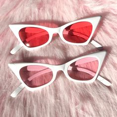 08ed914279f Badass retro cat eye sunglasses with white frames and tinted lenses ~  message me with your
