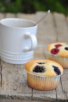 Due bionde in cucina: Muffin ai frutti di bosco con farina di riso