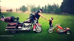 Adorable little biker!