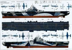 USS Yorktown (CV-5) - Portaerei ClasseYorktown -Entrata in servizio30 settembre 1937 - Dislocamento20.191 t (standard) 25.893 t (pieno carico) Lunghezza Linea di galleggiamento: 232 m Globale: 246,7 m LarghezzaLinea di galleggiamento: 25,4 m Globale: 33,4 m Altezza45 m Pescaggio 7,9 m 120.000 CV Velocità32,5 nodi (61 km/h) Autonomia12.5000 mn a 15 nodi (23.150 km a 28 km/h) Equipaggio2.200 marinai + personale di volo - Affondata a Midway