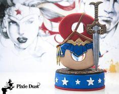 Wonder Woman Candle Holder Wonder Woman Cake Topper