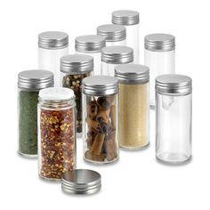 Glass Food Storage, Diy Kitchen Storage, Diy Storage, Storage Ideas, Storage Jars, Pantry Storage, Smart Storage, Storage Solutions, Glass Spice Jars
