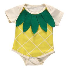 Cute Pineapple Newborn Baby Boys Girls Bodysuits Kids Summer Jumpsuit Playsuit Outfit Clothes #Affiliate
