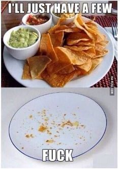 One does not just simply 'eat a few' chips and salsa...lol