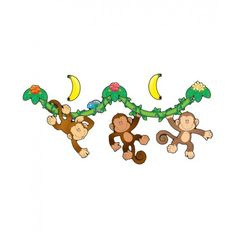 Monkeys bulletin board set