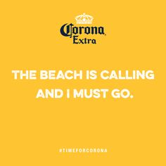 """Yellow Beach Card: """"The beach is calling and I must go. Beach Cards, Yellow, Movie Posters, Film Poster, Billboard, Film Posters"""