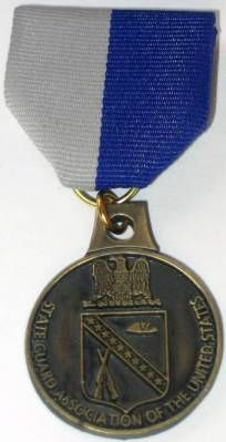 The OMSA Medal Database - State Guard Association of the United States (SGAUS) ROTC Award - OMSA Medal Ribbon, Rotc, Military Insignia, National Guard, Ribbons, Coin Purse, United States, America, Bias Tape