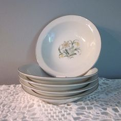 Five Vintage Dessert Bowls  Sone China From Japan by SimplySuzula, $14.00