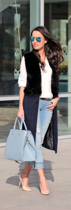 BLUE JEANS BABY! By Style & Blog