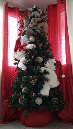 Snowman Christmas Decorations, Christmas Tree Themes, Christmas Scenes, Christmas Time, Christmas Crafts, Corner Christmas Tree, Unique Christmas Trees, Rustic Christmas, Beautiful Christmas