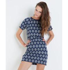 Tricot jurk met indiaanse print - JBC Webshop BE - NL