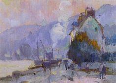 Robert Antoine Pinchon - Les quais à Rouen