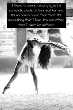 can't live without dance