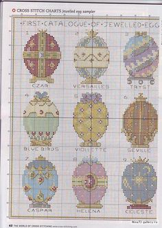 Easter faberge egg cross stitch