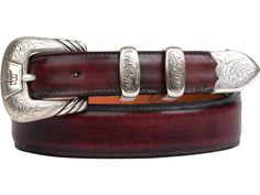 Lucchese Men's Belt | Goat in Black Cherry #LuccheseBelts  www.lucchese.com