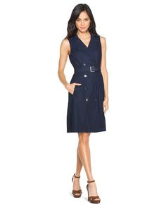 Sleeveless Denim Trench Dress @singsarahsing Wouldn't this be great for spring?