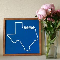 State art, home state, Texas art, wood sign, wooden sign, wood art, hand painted, home decor, wall art by LifeLessOrdinaryShop on Etsy https://www.etsy.com/listing/398625691/state-art-home-state-texas-art-wood-sign