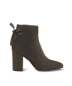 Sante Heeled Ankle Bootie for the office ladies and more. Office Ladies, Fall Trends, Color Trends, Green Colors, Earthy, Ankle Booties, Blue And White, Black, Olive Green