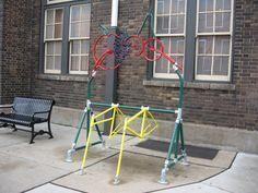 Outdoor bike rack / kids climbing frame