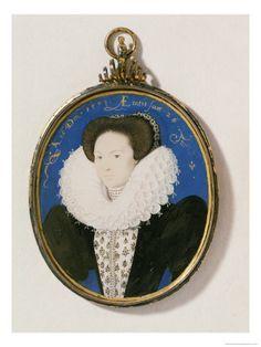Arbella Stewart, a miniature by Nicholas Hilliard