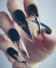Why are stiletto nails so amazing? We have found the very Best Stiletto Nails for 2018 which you will find below. Having stiletto nails really makes you come off as creative and confident. You can be that fierce girl you always wanted to be! Nail Art Designs, Acrylic Nail Designs, Nails Design, Beautiful Nail Art, Gorgeous Nails, Ongles Goth, Witch Nails, Gothic Nails, Halloween Nail Art