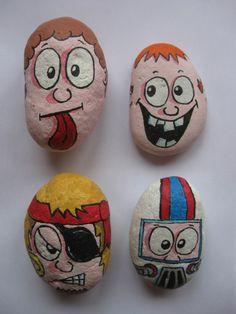 Cartoon pebble set 1