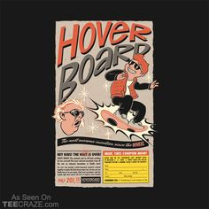 Hoverboard T-Shirt - https://teecraze.com/design/hoverboard-t-shirt/ - Designed by mathiole  #TCRZ #hoverboard #BackToTheFuture