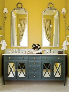 Yellow And Gray Bathroom Ideas Grey Gold Master
