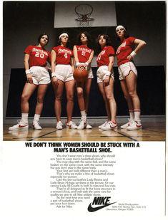 Nike - Women's Basketball Advertisement c. 1980 Bring back the women's  basketball shoes!