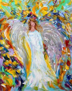 Hey, I found this really awesome Etsy listing at https://www.etsy.com/listing/178342847/angel-of-love-16-x-20-print-of-original