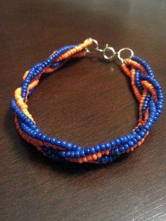 Woven Beaded Bracelet UF Florida Gator Orange and by GotSpiritShop, $7.00