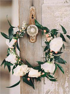 boho floral crown #floralcrown @weddingchicks