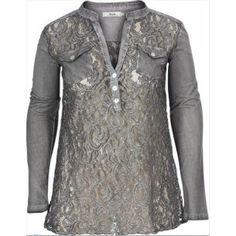 Zizzi kanten blouse Moods 40/42-52/54