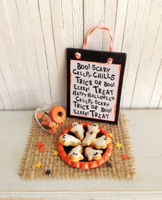 Miniature Halloween Ghost Cookies   by LittleThingsByAnna
