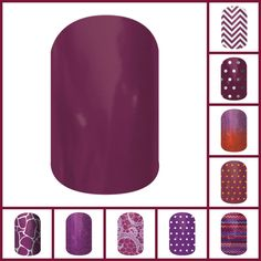 Jamberry Nail Wraps Fall/Winter 2014 Burgandy and Purples http://allisonmaffettone.jamberrynails.net/
