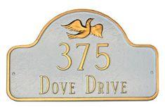 Dove Arch Address Plaque