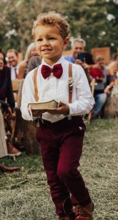Ring bearer – in burgundy and carrying a bible! Ring bearer – in burgundy and carrying a bible! Maroon Wedding, Burgundy Wedding, Fall Wedding, Wedding Ideas, Wedding Decorations, Wedding Games, Wedding Quotes, October Wedding, Church Wedding