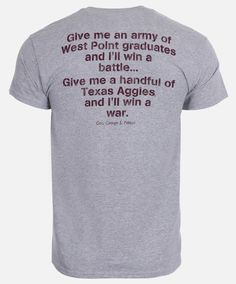 PATTON QUOTE SHIRT Grey Shirt, T Shirt, God Of War, Shirts With Sayings, Give It To Me, Quotes, Mens Tops, Supreme T Shirt, Quotations